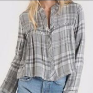 Cloth and Stone Ruffle Button Down